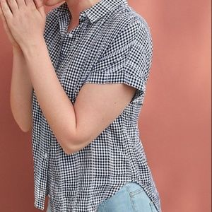 Cloth & Stone Black & White Gingham Top